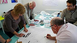 Patients, staff and designers devising a new hospital road layout